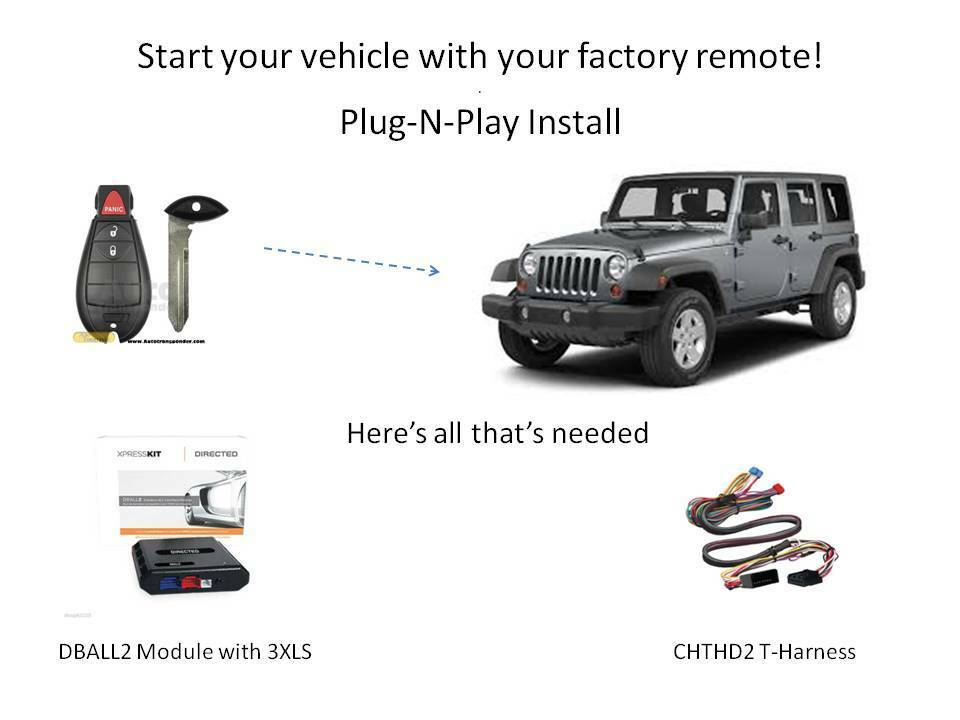plug n play remote starter for jeep db3 & thchd2 uses your Dball2 Wiring Diagram plug n play remote starter for jeep db3 & thchd2 uses your factory remotes ebay dball2 wiring diagram