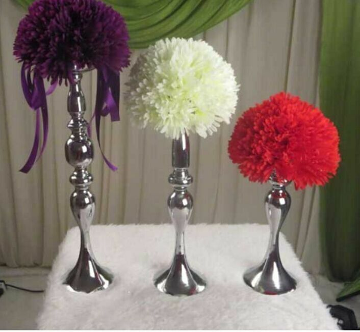 Wedding flower ball feather stand candle holder