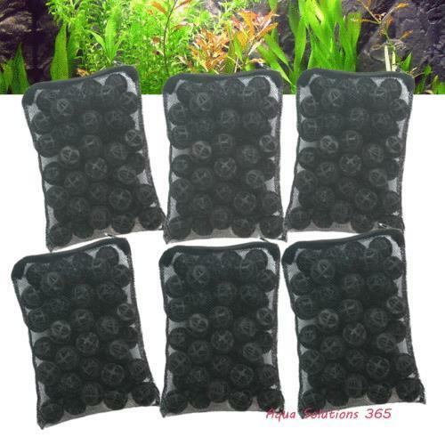 300 aquarium 1 bio balls w sponge filter media bag 4 wet for Carpe koi aquarium 300 litres