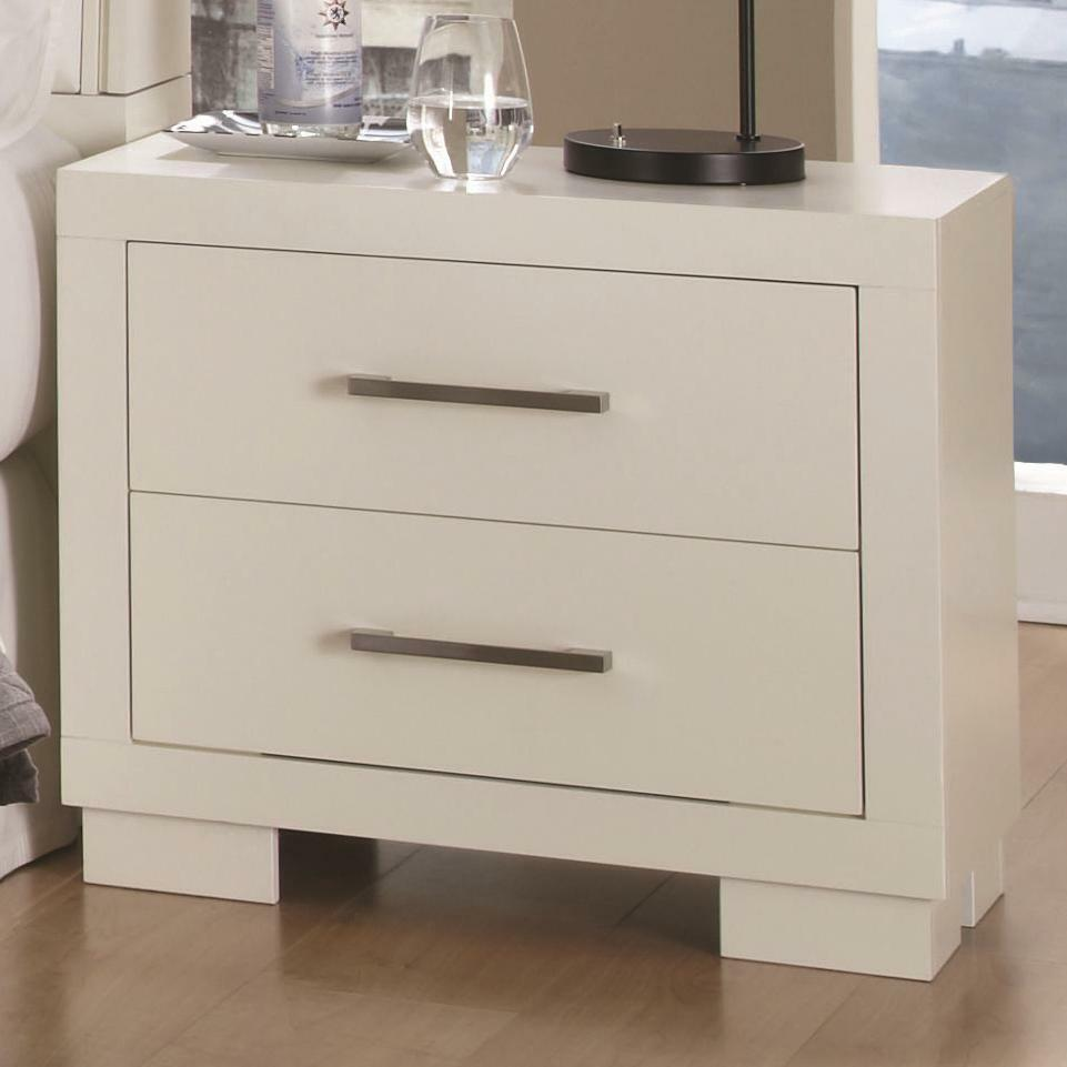 Modern White Night Stand With Storage Drawers 202992 Ebay