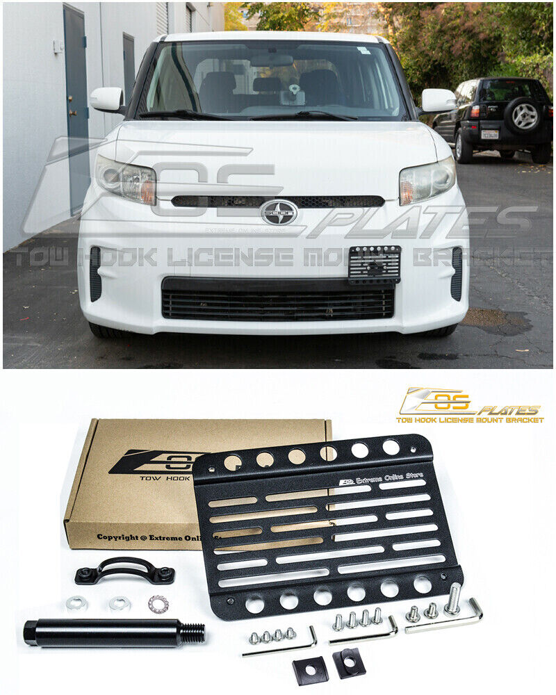 EOS For 08-Up Scion xB Front Bumper Tow Hook License Plate Mount ...