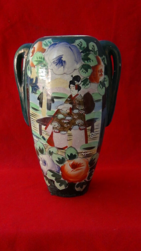 ANTIQUE JAPANESE PORCELAIN HAND PAINTED NIPPON MORIAGE TWO ...