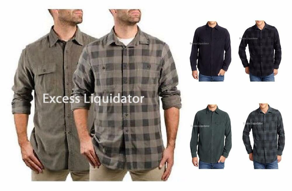 Tailor Vintage Mens 2 In 1 Reversible Button Down Shirt