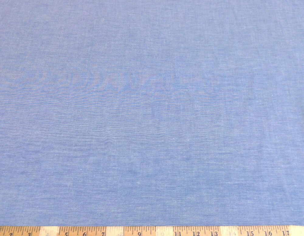 Discount fabric cotton chambray apparel blue 102ch ebay for Apparel fabric