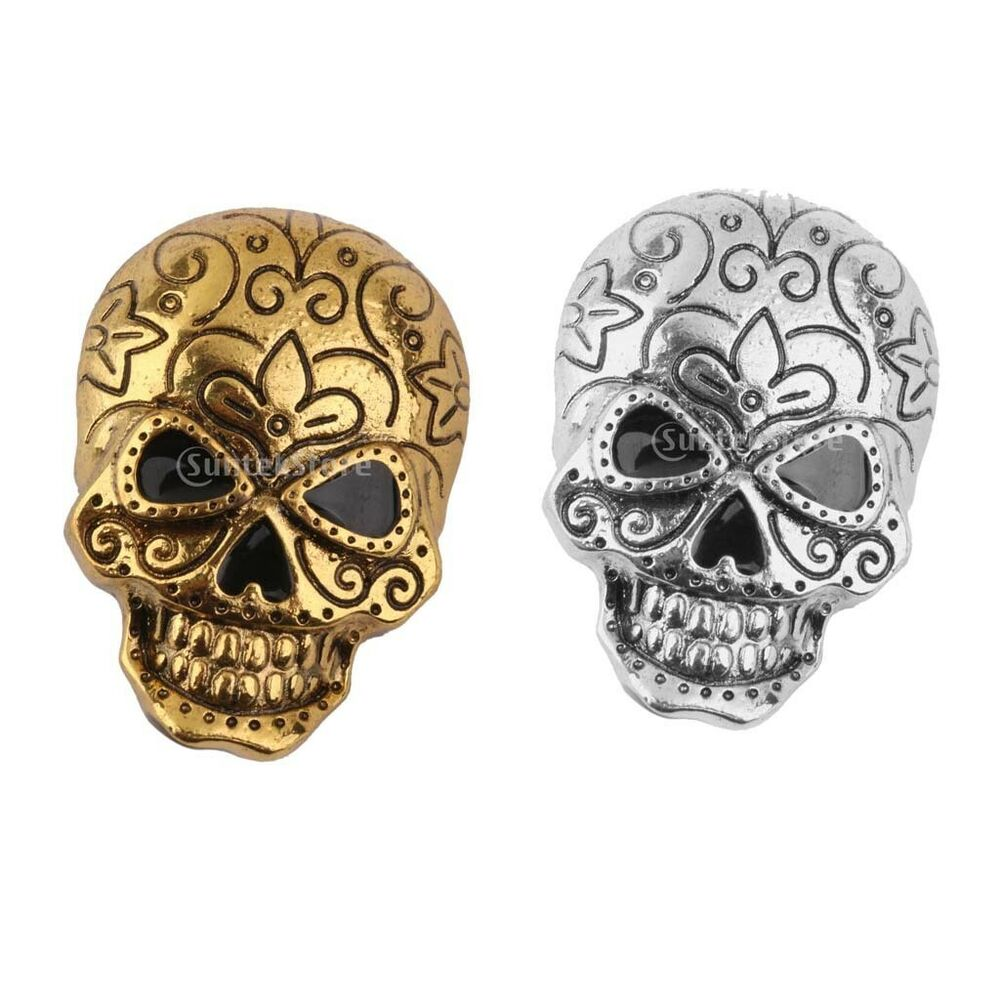 Gothic punk halloween vintage retro skull skeleton brooch for Decor jewelry