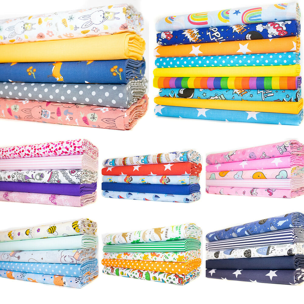 Children S Fat Quarter Bundle Nursery Polycotton Baby Kids