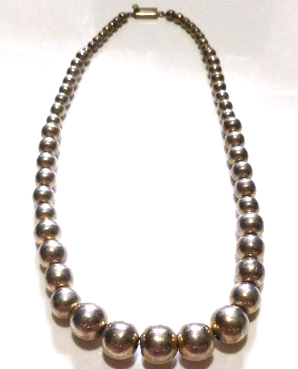 vintage mexico mexican bead beaded sterling