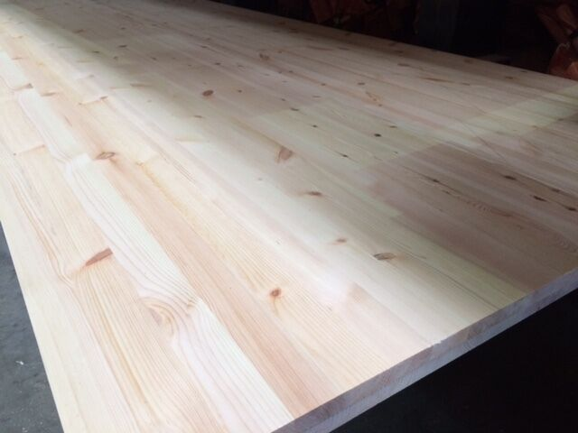Laminated Pine Board ~ Mm thick solid pine laminated board for