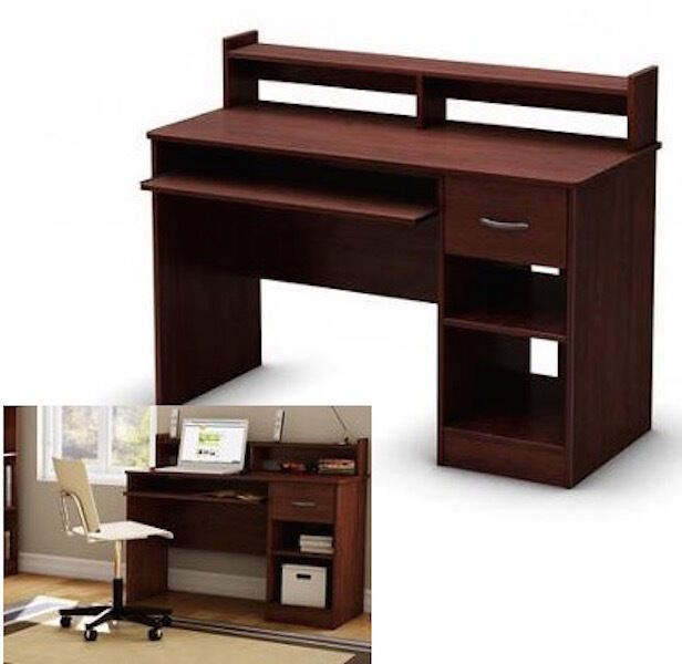 desk cherry wood table home office workstation furniture new ebay