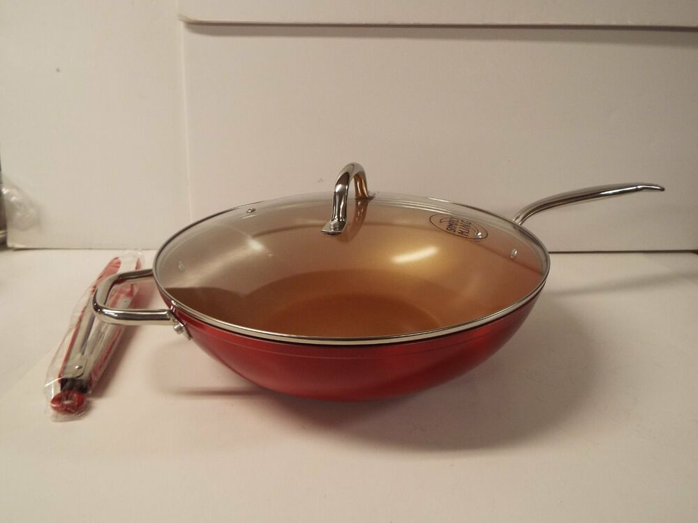 Simply Ming 13 Quot Technolon Jumbo Wok With Lid Race Car Red
