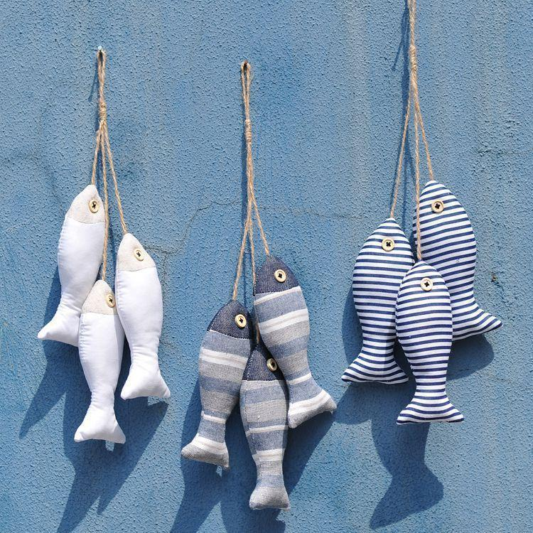 new handmade nautical decor home wall ocean charms fish
