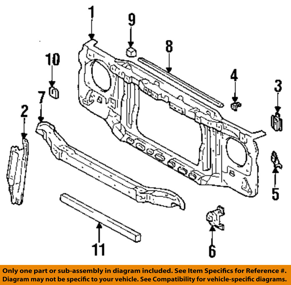 Toyota Oem 95 98 T100 Radiator Core Support Bracket Panel