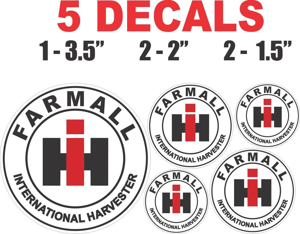 International Harvester Decals And Stickers : Round farmall ih international harvester vinyl decals