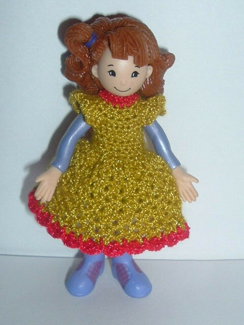 Crochet Mini Doll Clothes : TWO Handmade Crochet Dresses clothes fits 4 inch GROOVY ...