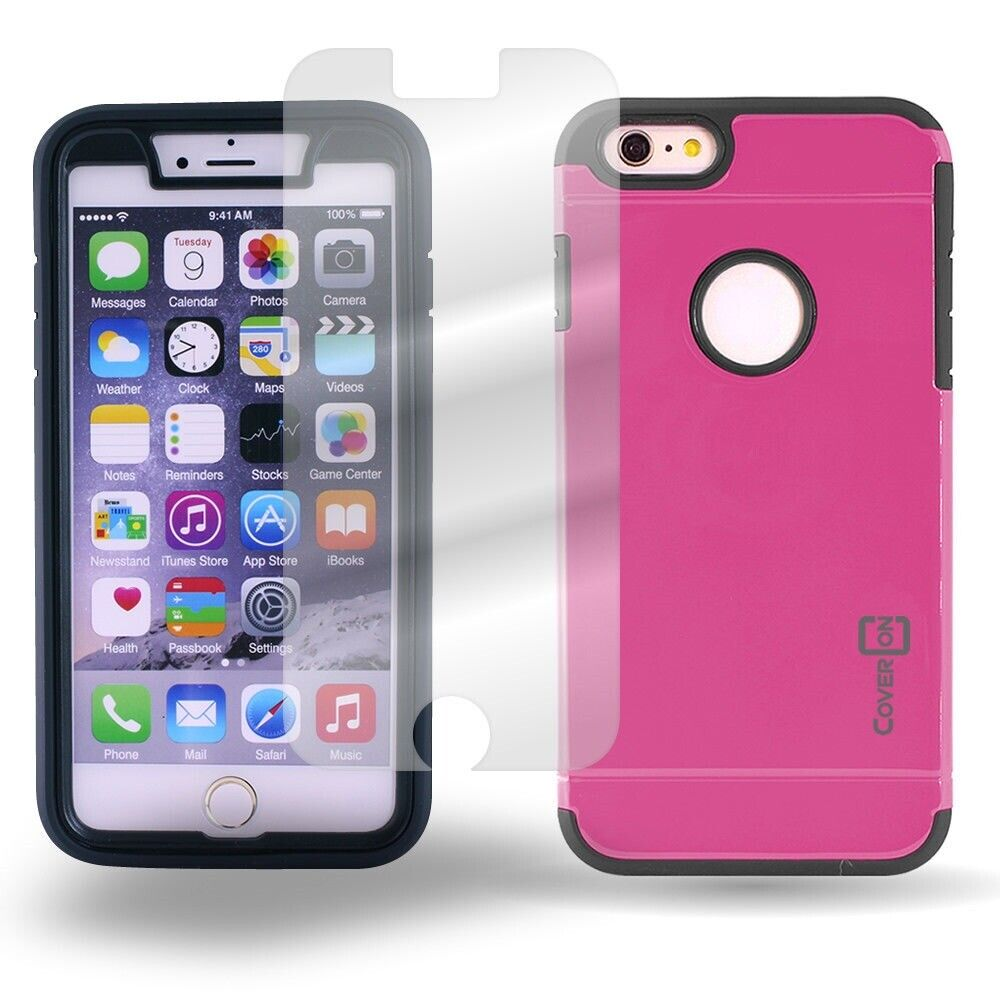 iphone 6 phone covers coveron 174 for apple iphone 6 plus pink black 3077