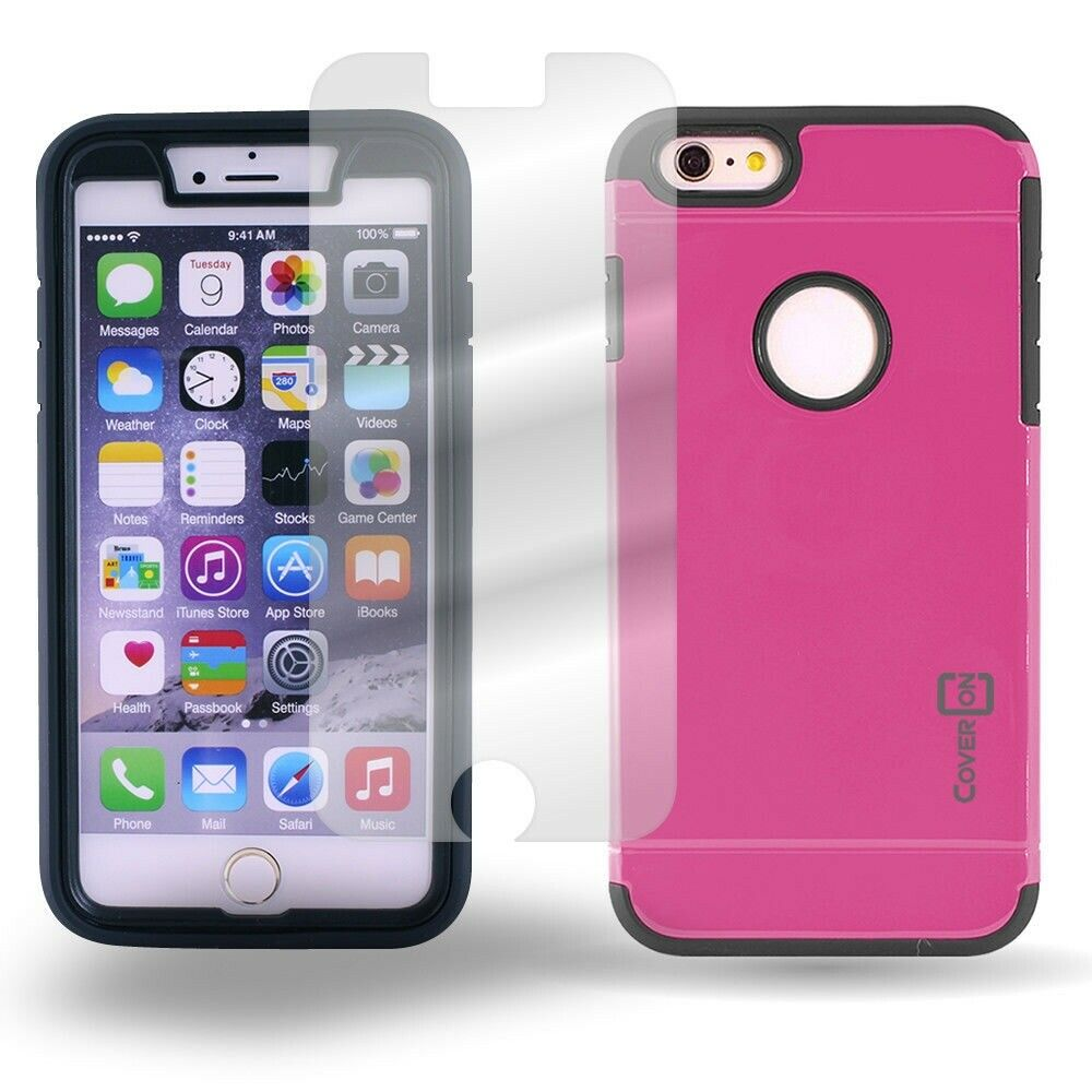 phone cases iphone 6 coveron 174 for apple iphone 6 plus pink black 2315