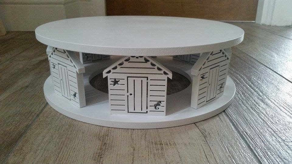Cake Stand Wooden Beach Hut Design Round Wedding Seaside