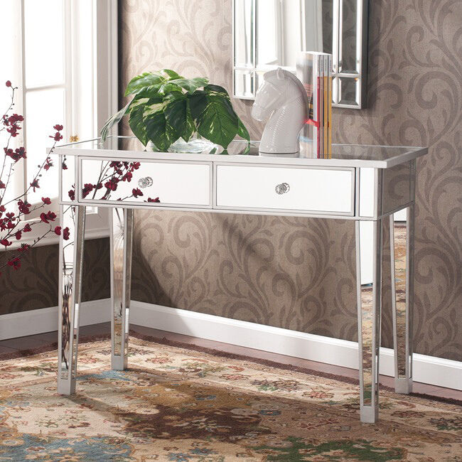 Mirrored Console Table Entryway Accent Living Room Bedroom Storage Sofa End N