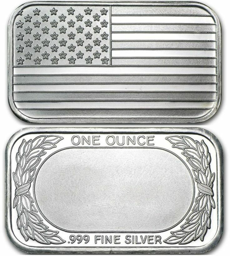 American Flag 999 Pure 1 Oz Silver Bar Ebay