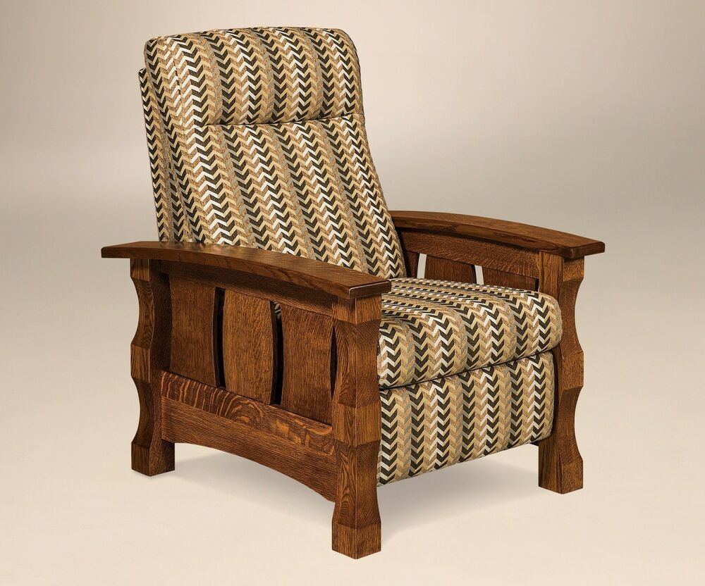 Amish Mission Recliner Accent Chair Balboa Slat Side Solid