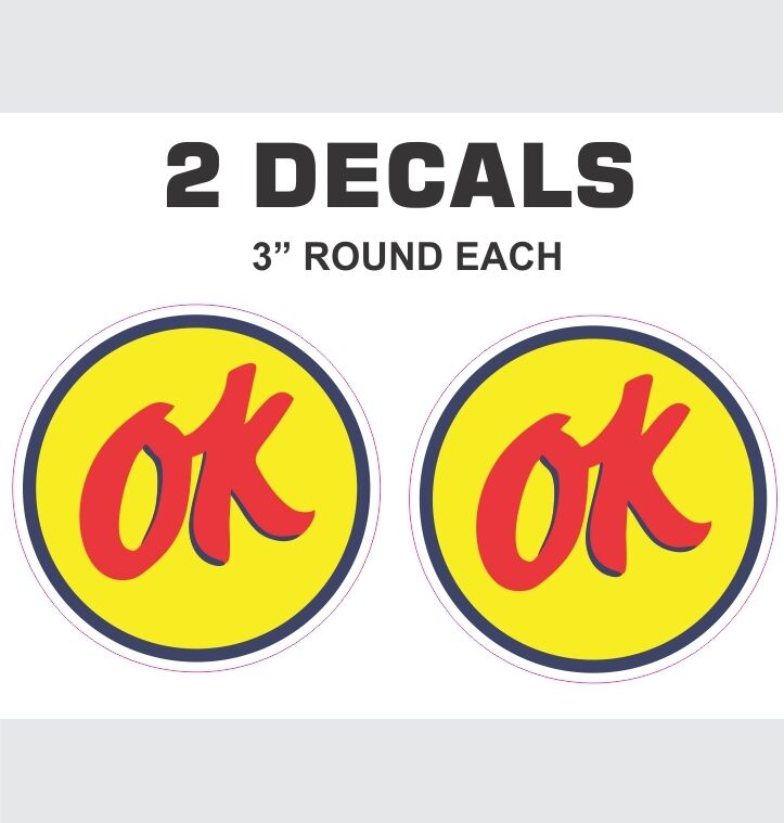 2 Round Ok Used Cars Vinyl Decals Ebay