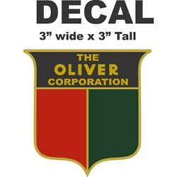1 Red and Green Shield The Oliver Corporation Vinyl Decal