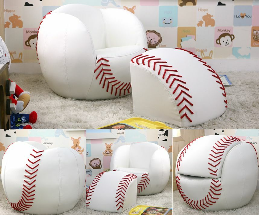 Baseball shaped kids sofa best for interior ebay Baseball sofa