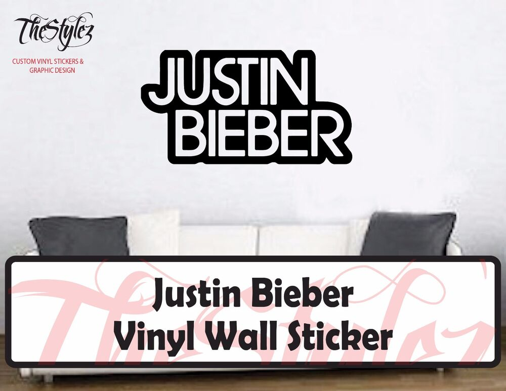 justin bieber custom vinyl wall sticker ebay custom decals waterproof labels vinyl stickers wall 2016