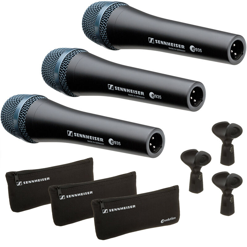 sennheiser e935 professional cardioid dynamic handheld microphones 3 pack 615104094215 ebay. Black Bedroom Furniture Sets. Home Design Ideas