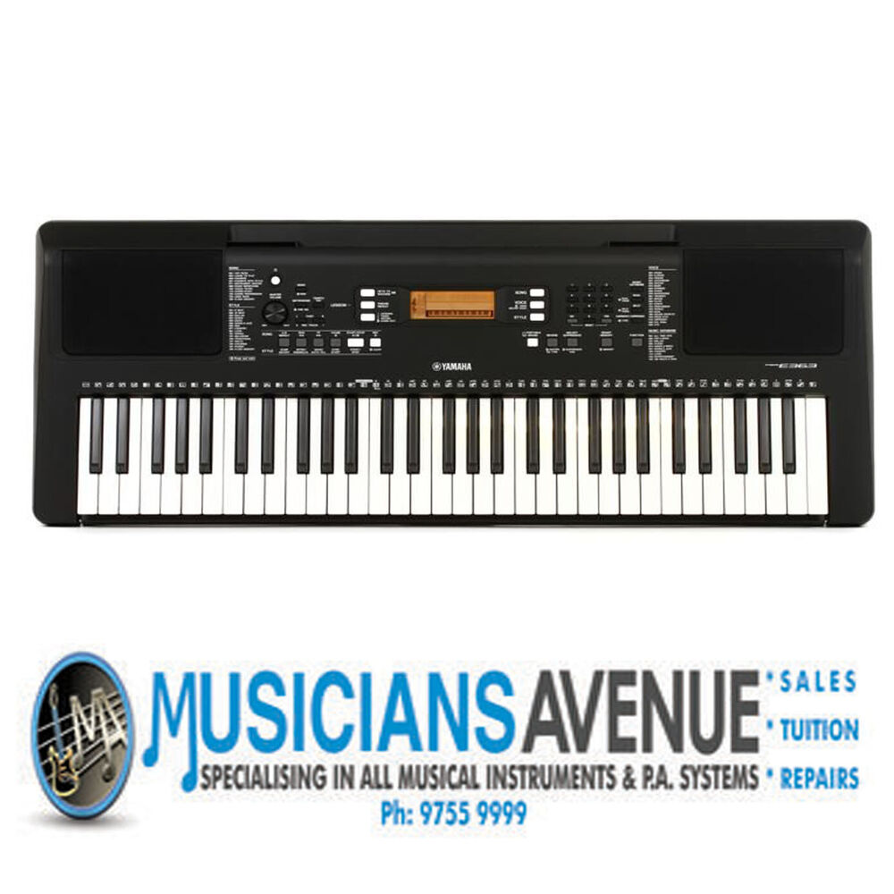 yamaha psr e363 keyboard brand new 3 year warranty. Black Bedroom Furniture Sets. Home Design Ideas
