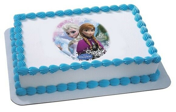 Elsa Edible Cake Decoration : Frozen Elsa Anna Edible Cake or Cupcake Toppers Decoration ...