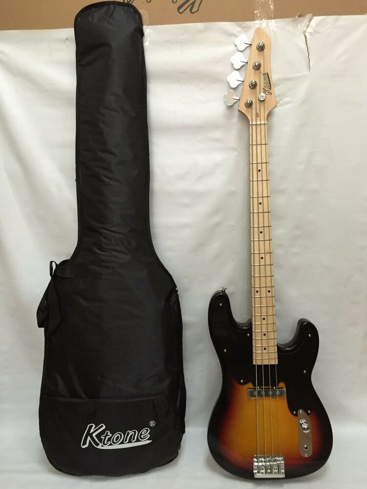 4 string bass guitar electric bass with gig bag brand new 619159487312 ebay. Black Bedroom Furniture Sets. Home Design Ideas