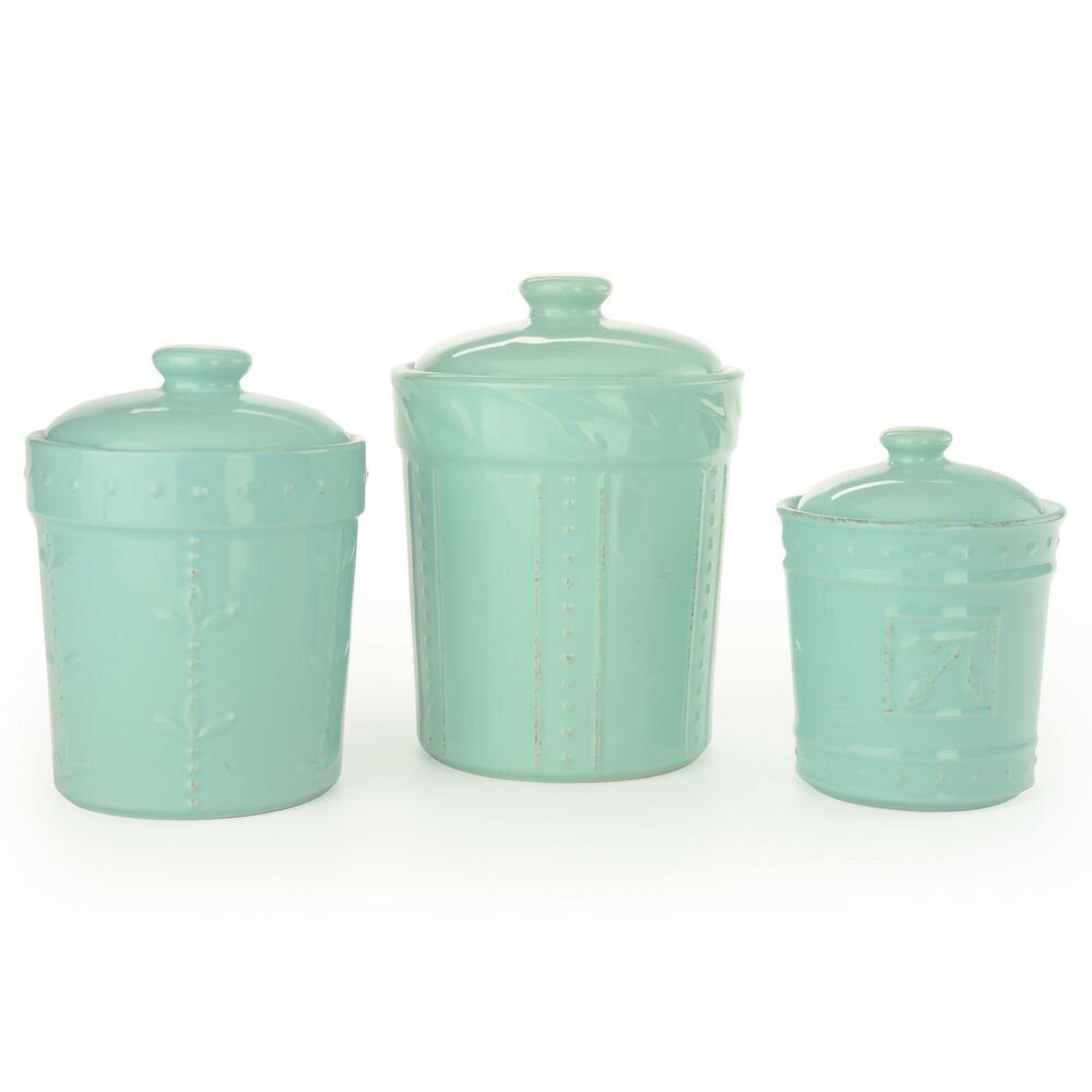 signature housewares 3 sorrento ceramic aqua