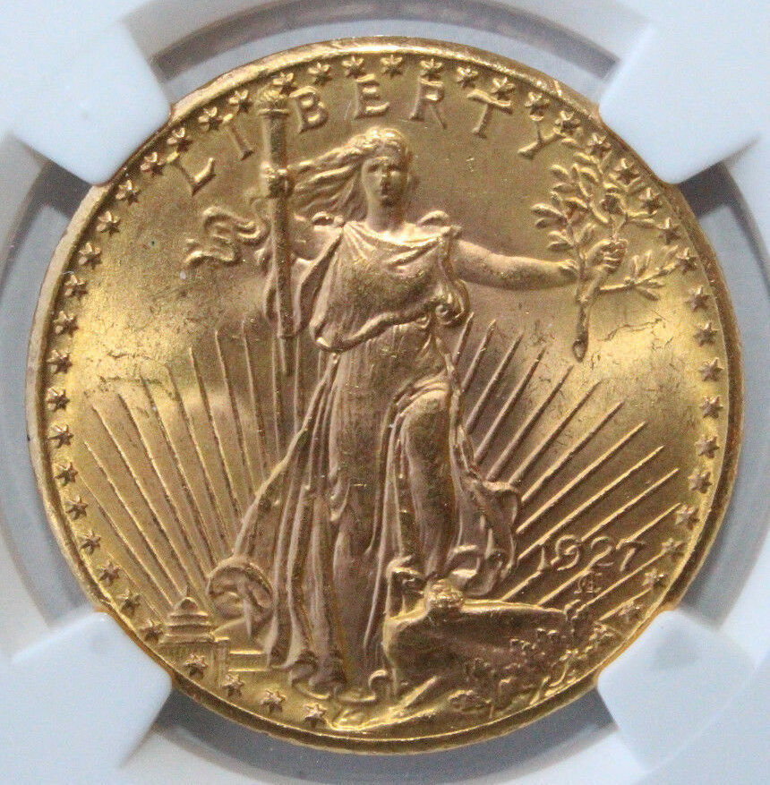 1927 20 gold st gaudens double eagle ms 64 ngc 3832257 003 free shipping ebay. Black Bedroom Furniture Sets. Home Design Ideas