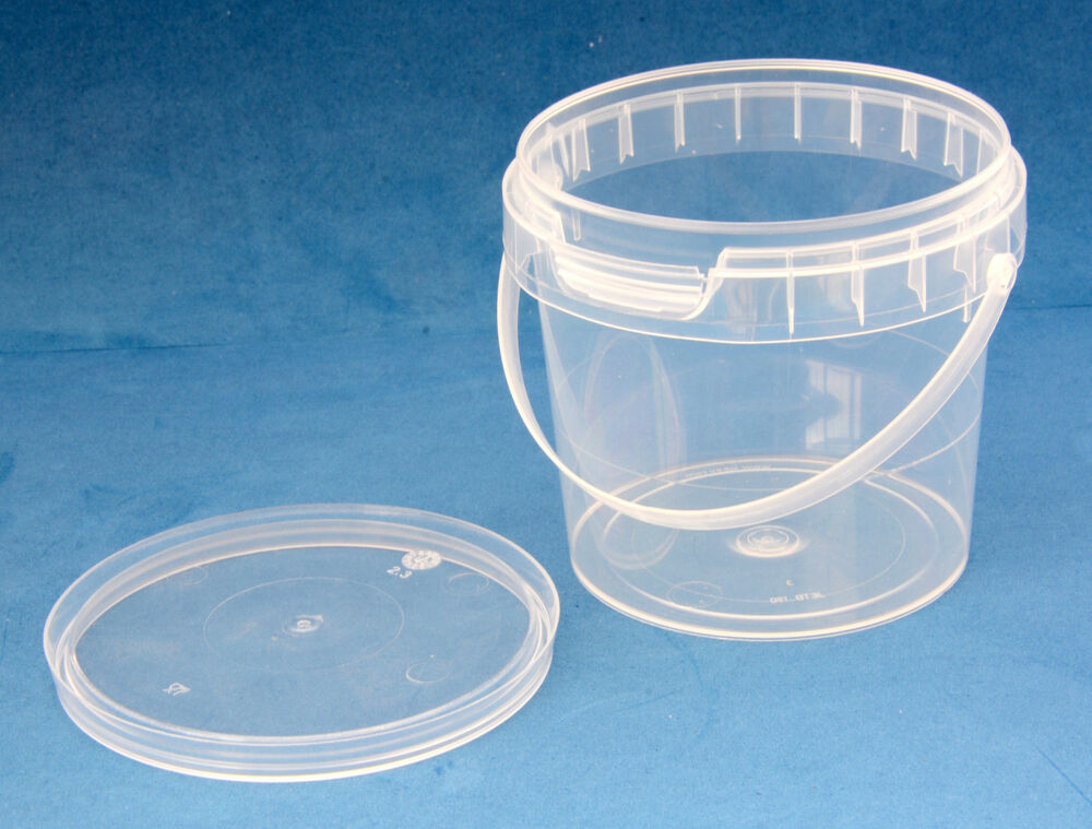 190ml Clear Plastic Tamper Proof Tubs With Lids And Handle