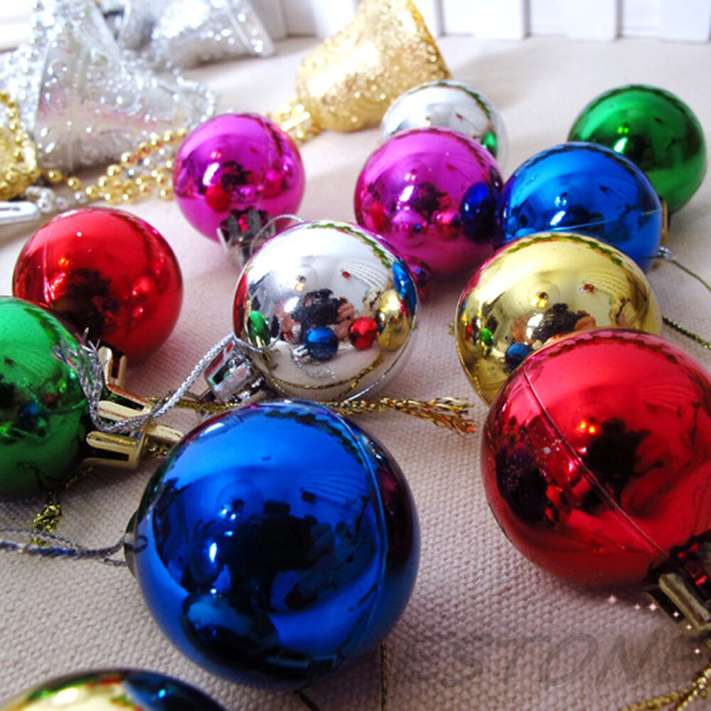 Christmas Xmas Ball Baubles Tree Decoration Multi Color