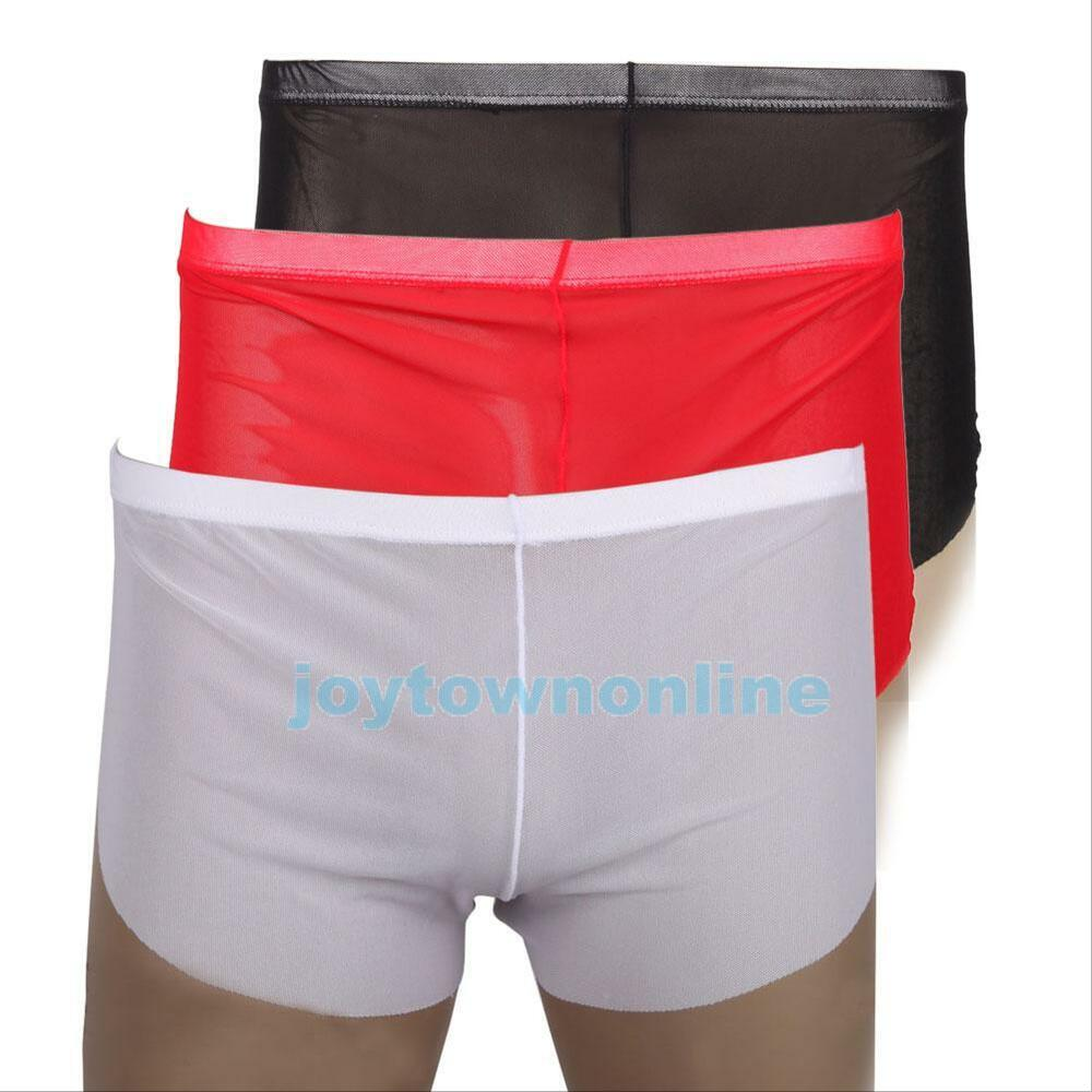 Men's Fashion Sexy See Through Smooth Boxers Shorts Briefs ...