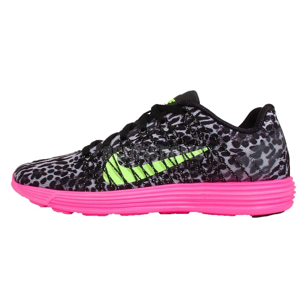 Nike Black Pink Leopard Running Shoes