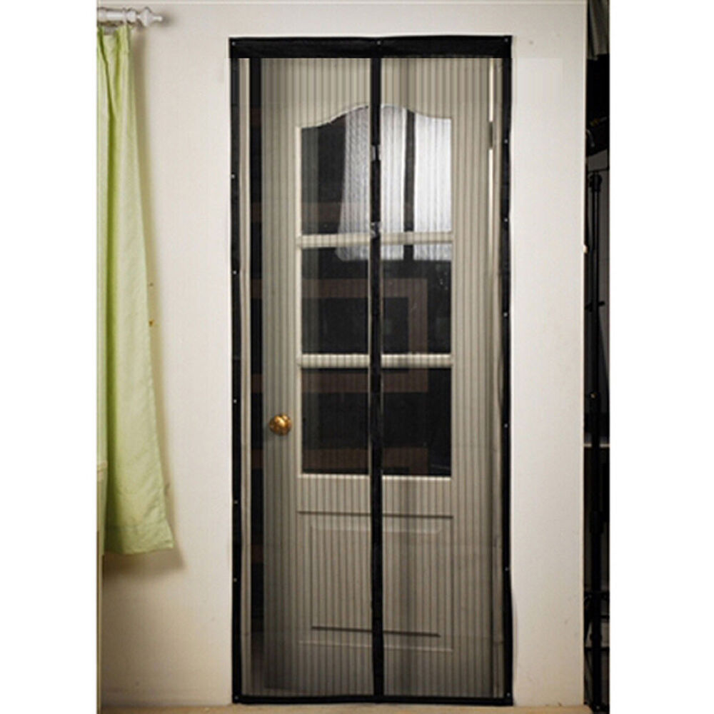 Doors With Screen: Home Magic Mesh Hands Free Screen Net Magnetic Anti