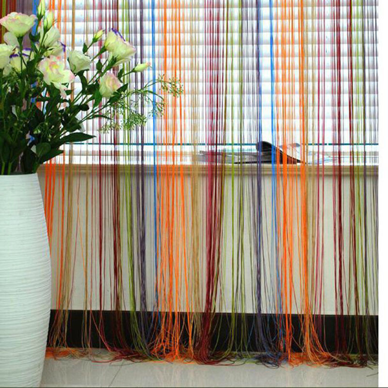 string kette t r vorhang fliegengitter divider zimmer blinden tassel topfen ebay. Black Bedroom Furniture Sets. Home Design Ideas