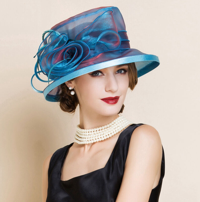 New women 39 s kentucky derby church wedding noble dress hat for Dress hats for weddings