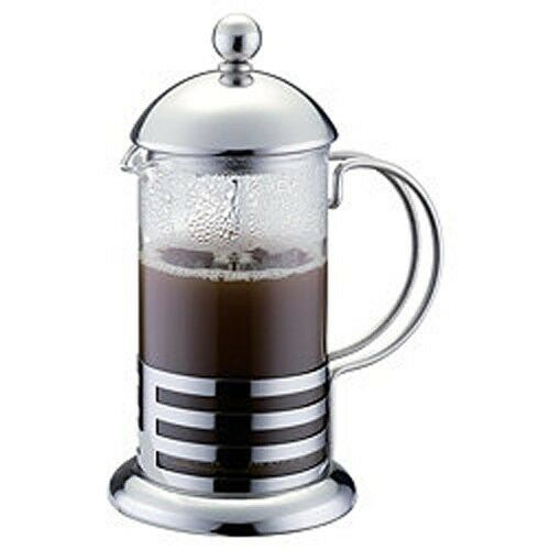 350ml 3 cup stainless steel glass cafetiere french filter coffee press plunger ebay. Black Bedroom Furniture Sets. Home Design Ideas