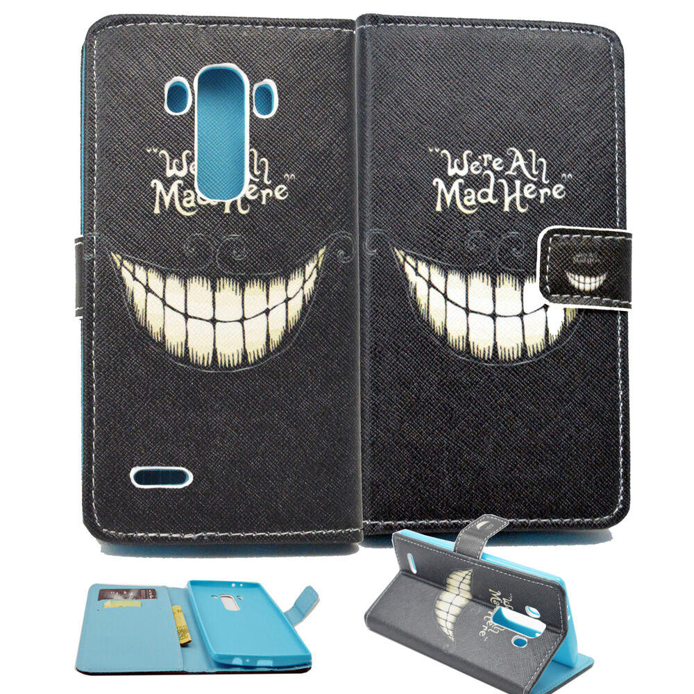 Wallet Purse with Book Card Slot Classic Black Phone Case Cover For LG ...