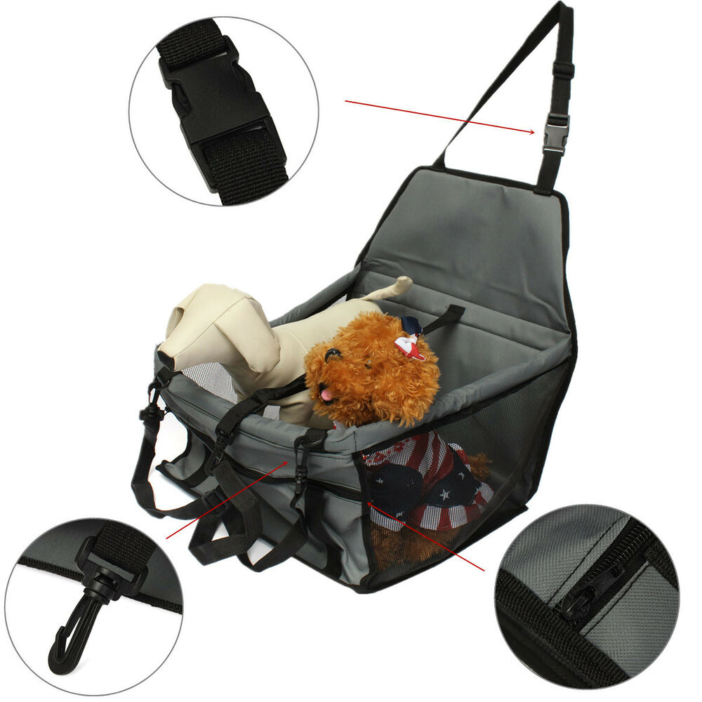 folding pet dog cat piggy car seat safe belt cover booster travel carrier bag ebay. Black Bedroom Furniture Sets. Home Design Ideas