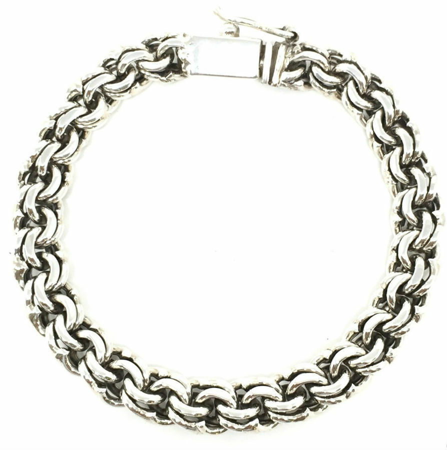 Taxco Mexican Sterling Silver Men S Chain Link Bracelet