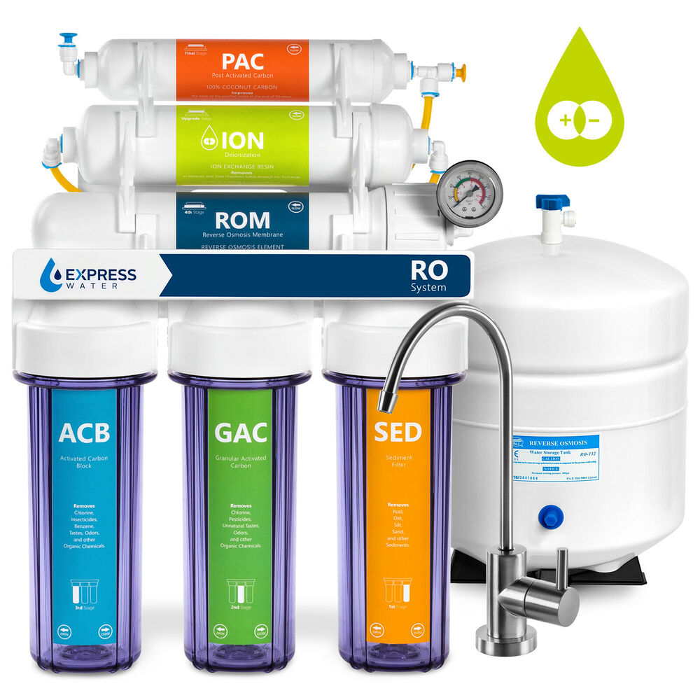 6-Stage Undersink Reverse Osmosis Water Filter System RO ...