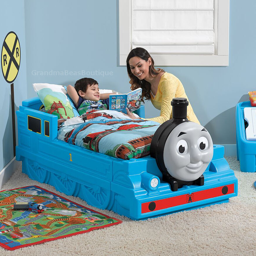 Http Www Ebay Com Itm Thomas The Train Toddler Bed Tank Engine And Friends Bedroom Furniture Kids Boys 291555816399