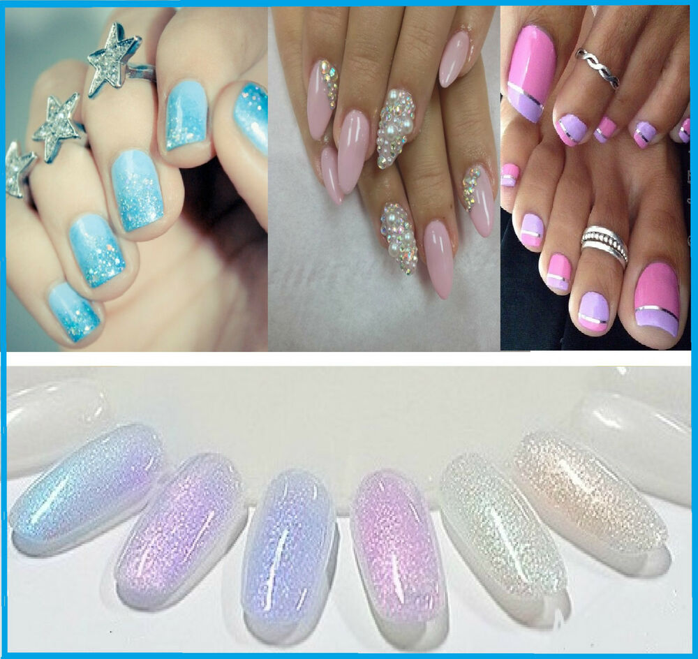 Mermaid Effect Glitter Nail Art Powder Dust Magic Glimmer