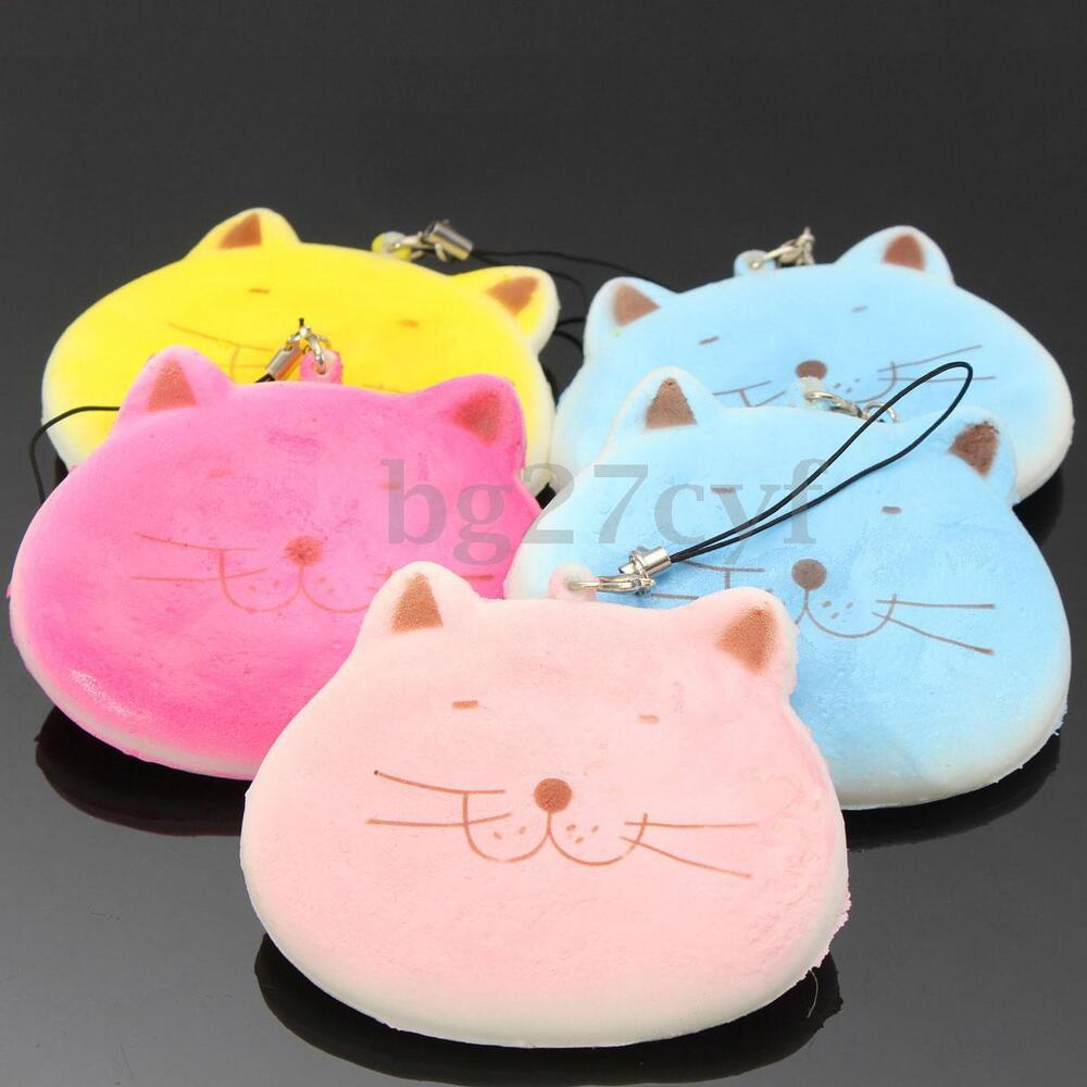 1PC Adorable Cartoon Fat Cat Squishy Phone Straps Soft Scent Charms Key Chain eBay