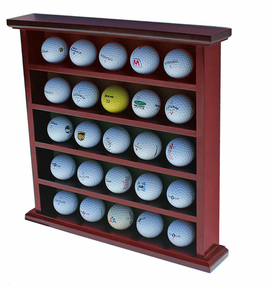 Golf Ball Display Case Wall Cabinet No Door Holds 25